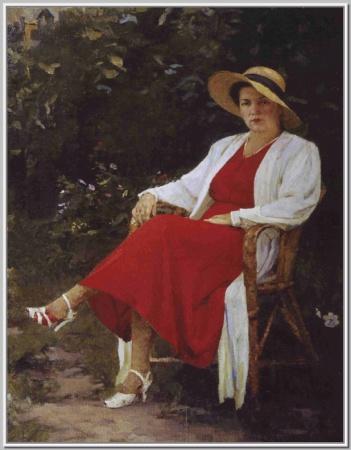 """""""Портрет жены"""" 1952г."""