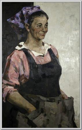 """""""Портрет ткачихи Вечеровой Ю.М."""" 1960г."""
