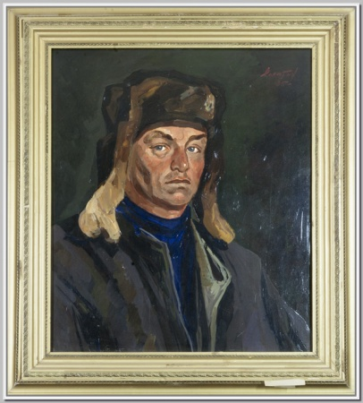 """""""Хромов В.З. ветеран ВОВ"""" 1985г."""