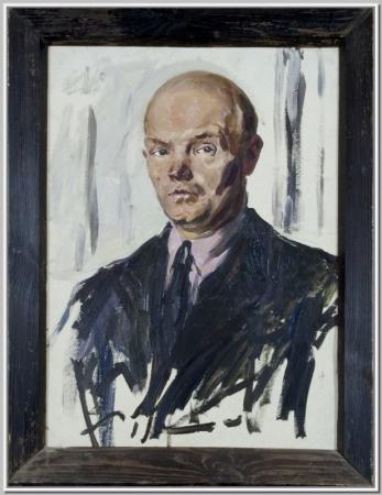 """Этюд """"Мужской портрет"""" 1950г."""