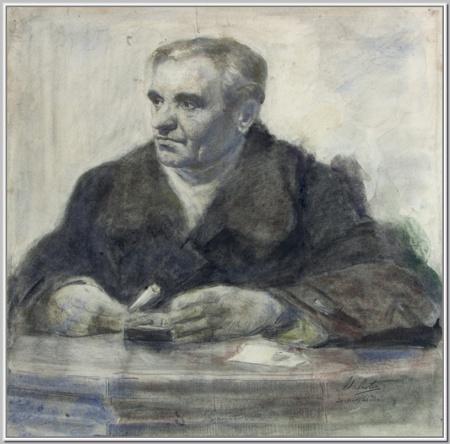 """Портрет Тестя. Тимофей Шишкин"" 1948г."
