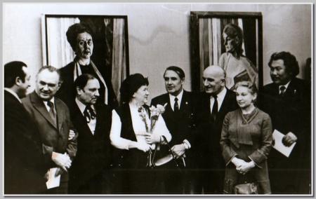 Открытие персональной выставки в Москве 1974.