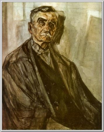 """""""Портрет старейшего художника текстильного края И.Н.Нефедова"""",1970г."""