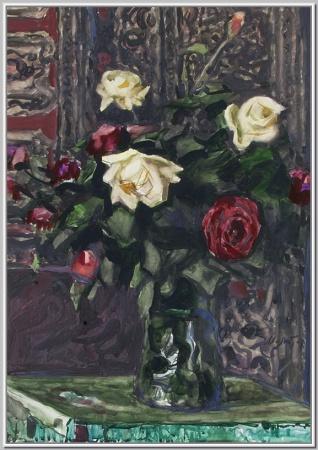 """""""Розы в керамической вазе"""" 1978г."""