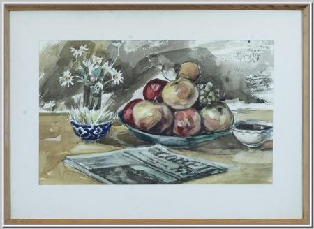 """Натюрморт с яблоками"" 1971г."