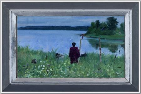 """На берегу Мстинского озера"" 1952г."